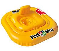 Детский надувной плотик круг с трусами Intex 56587: размер 79х79см, от 12 месяцев