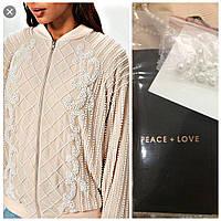 Женская ветровка-пиджак расшитый бусинами и бисером, бренд