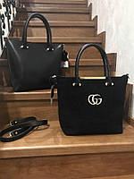 Женская красивая большая замшевая сумка
