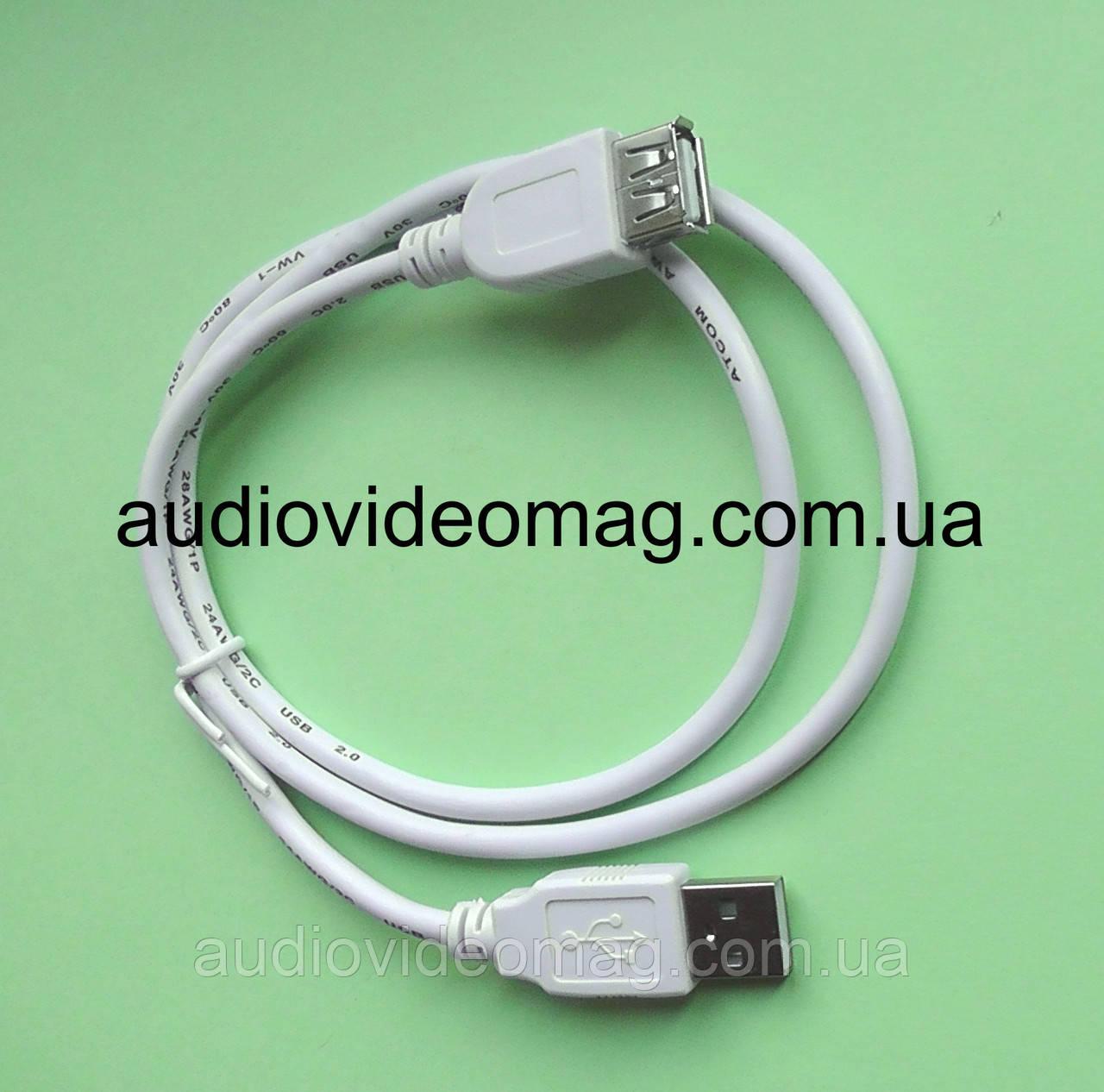 Кабель-удлинитель USB 2.0 AM-AF, длина 0.8 метра