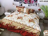 """Двуспальное постельное белье """"Цветы SVV-033"""""""