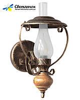 """Деревянное бра """"Керосинка"""" светлый дуб на 1 лампу"""
