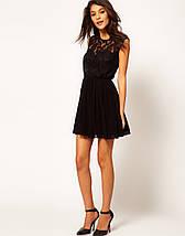 Черное платье с кружевным верхом ASOS, фото 3