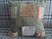 Декоративная подушка с карманами 40х40 см, фото 1