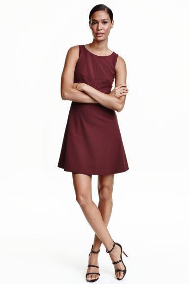 Бордовое платье H&M