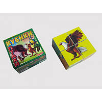 Кубики «Птицы» арт.0603, обучающая игра, развивающая игрушка, детские кубики