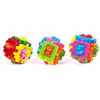 Логический куб-сортер с животными № 50-102, детская развивающая игрушка, кубик