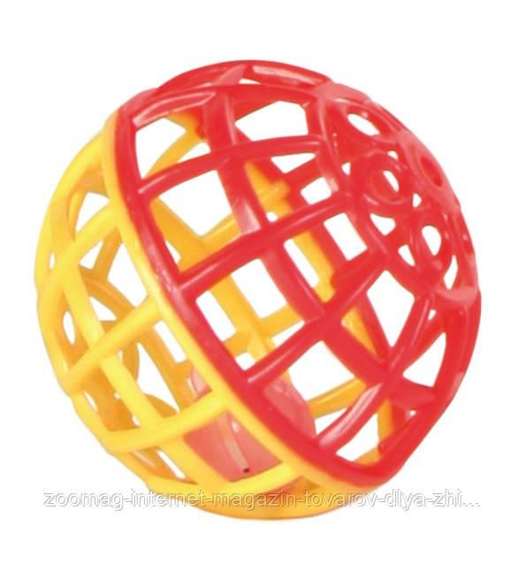 """Игрушка для попугая """"Мячик с колокольчиком"""" 4,5см, Trixie красно-синий"""