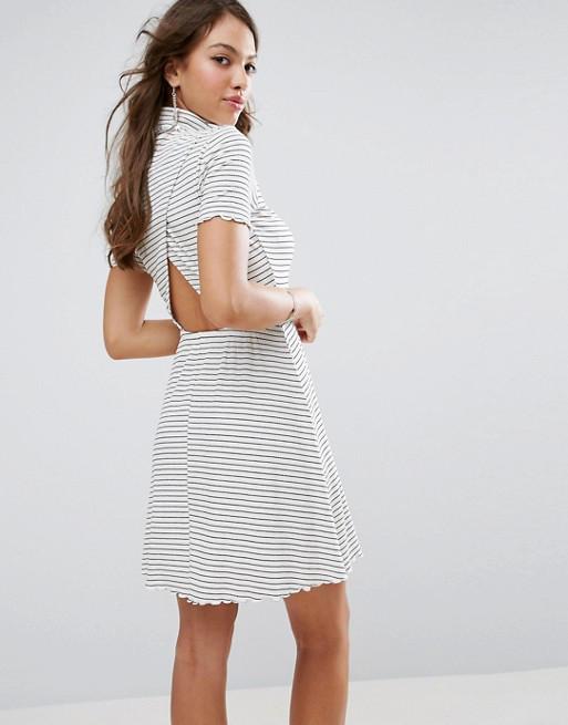 Новое платье в полоску с красивой спинкой ASOS