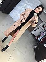 """Женское удланенное шерстяное демисезонное пальто с капюшоном """"Marta"""" (3 цвета)"""