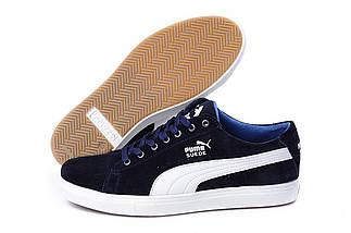 2b527729e7ca Купить Мужские Кожаные Кеды Puma SUEDE Blue (replika) недорого ...