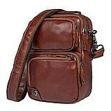 Коричнева шкіряна сумка через плече з шкіри 1010B, фото 3