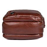 Коричнева шкіряна сумка через плече з шкіри 1010B, фото 4