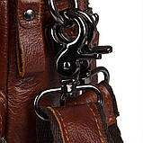 Коричнева шкіряна сумка через плече з шкіри 1010B, фото 6