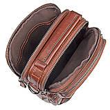 Коричнева шкіряна сумка через плече з шкіри 1010B, фото 8