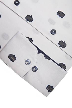 Белая рубашка с узором пингвинов KS 1773-1 разм. XXL, фото 2