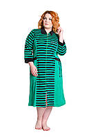 Халат велюровый Донна зеленый 50-52