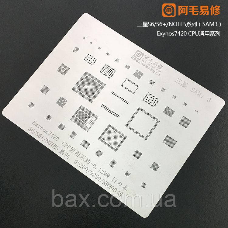 Amaoe BGA трафарет SAM:3  0.12mm для Samsung S6/S6+/NOTE5/G9200/9250/N9200