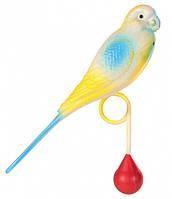 """Игрушка для попугая """"Попугайчик с грузиком"""" 12,5см, Trixie"""