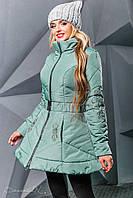 Стильная женская куртка осень-зима 2351 оливковый