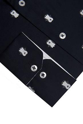 Темно-синяя рубашка с узором пингвинов KS 1773-2 разм. M, фото 2
