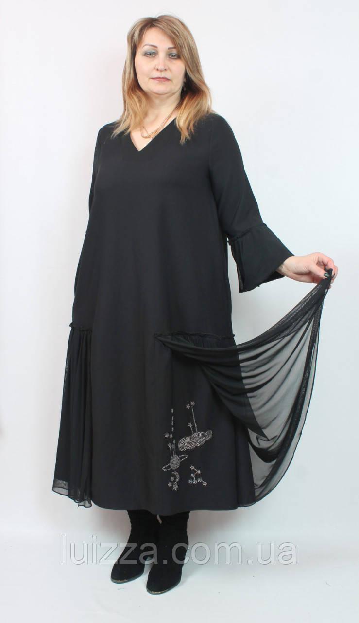 Турецкое платье Cadrelli большого размера 52- 64рр черный