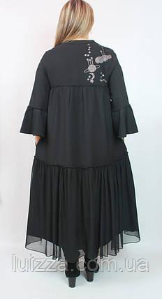 Турецкое платье Cadrelli большого размера 52- 64рр черный, фото 2