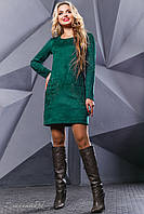 Красивое женское платье 2418 зелёный