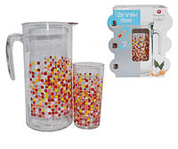 Набор из 7 предметов (кувшин+6 стаканов) Matrix