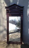 Зеркало раритетное, начало 20 века, из натурального дерева под реставрацию
