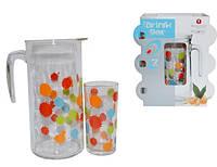 Набор из 7 предметов (кувшин+6 стаканов) Splatter