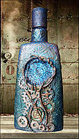 Стимпанк бутылка Подарок мужчине в стиле steampunk Графин для водки
