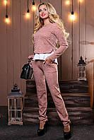 Красивый стильный женский Костюм 2491 розовый M