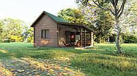 Деревянный дом - бунгало из профилированного бруса 43,75 м кв