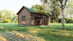 Деревянный дом - бунгало из профилированного бруса 43,75 м кв. Скидка на домокомплекты на 2020 год