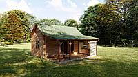 Каркасно-щитовой деревянный дом - бунгало 43,75 м кв