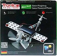 Конструктор металлический Самолет на солнечной батарее (69 дет.), Tronico
