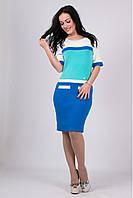 Модное женское платье Карамелька василек