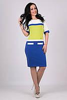 Модное платье Карамелька чернила-яблоко