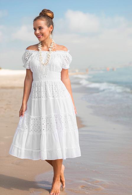 Летнее платье сарафан  с кружевом Индиано Фреш коттон