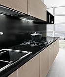 Сучасна італійська кухня без ручок і шпонованим фасадом OMICRON 22 WOOD фабрика Armony Cucine, фото 2