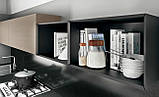 Сучасна італійська кухня без ручок і шпонованим фасадом OMICRON 22 WOOD фабрика Armony Cucine, фото 4