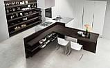 Сучасна італійська кухня без ручок і шпонованим фасадом OMICRON 22 WOOD фабрика Armony Cucine, фото 7
