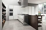Сучасна італійська кухня без ручок і шпонованим фасадом OMICRON 22 WOOD фабрика Armony Cucine, фото 9