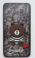 Чехол Мишка Smile Meizu M5 (Black)