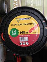"""Ліска для тримера Forte Twist """"кручений квадрат""""  3,0 мм.*168 м. ( TS30-168S-03 )"""