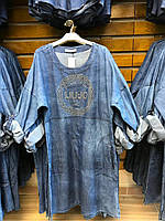 Турецкое платье джинсовое Denim 50 56 рр
