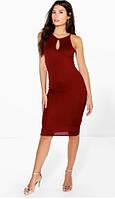 Нарядное Красивое Стильное Бордовое Платье Boohoo размер S/M