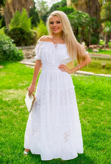 a602bba6a6b Летнее платье сарафан с кружевом Индиано Фреш коттон - Stellshop в Киевской  области