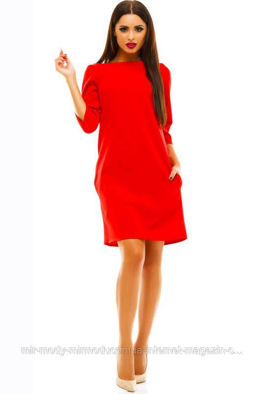 0b449364503 ПРЯМОЕ ПЛАТЬЕ ШЕРРИ красное с 42 по 52 размер(ЛБ) - Мир Моды.